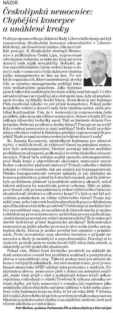 Deník ČL NEMCL Skokan 130511