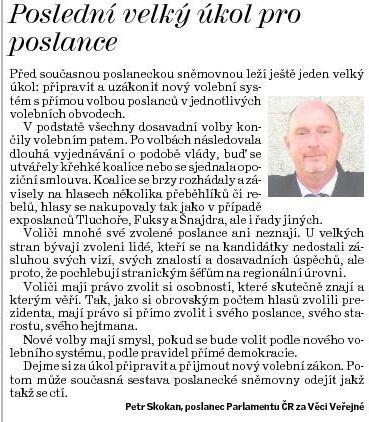 Deník ČL Volební systém Skokan 130624