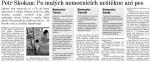 Článek o mém vystoupení ve sněmovně v Libereckém deníku 20. prosince 2012